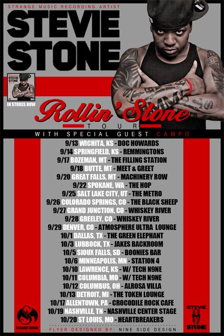 "Stevie Stone's ""Rollin' Stone"" Tour - Spokane, WA"