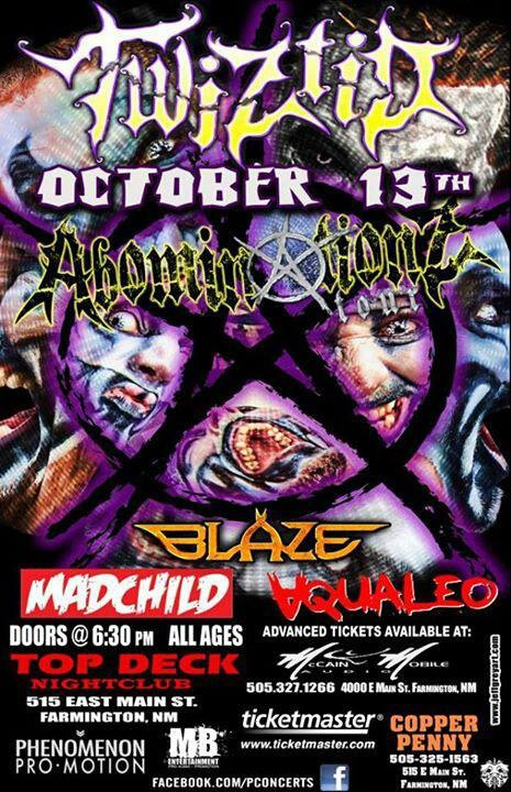 Twiztid's AbominationZ Tour: Leg 3 - Farmington, NM