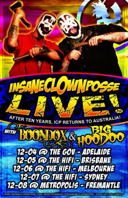 Icp tour dates in Australia