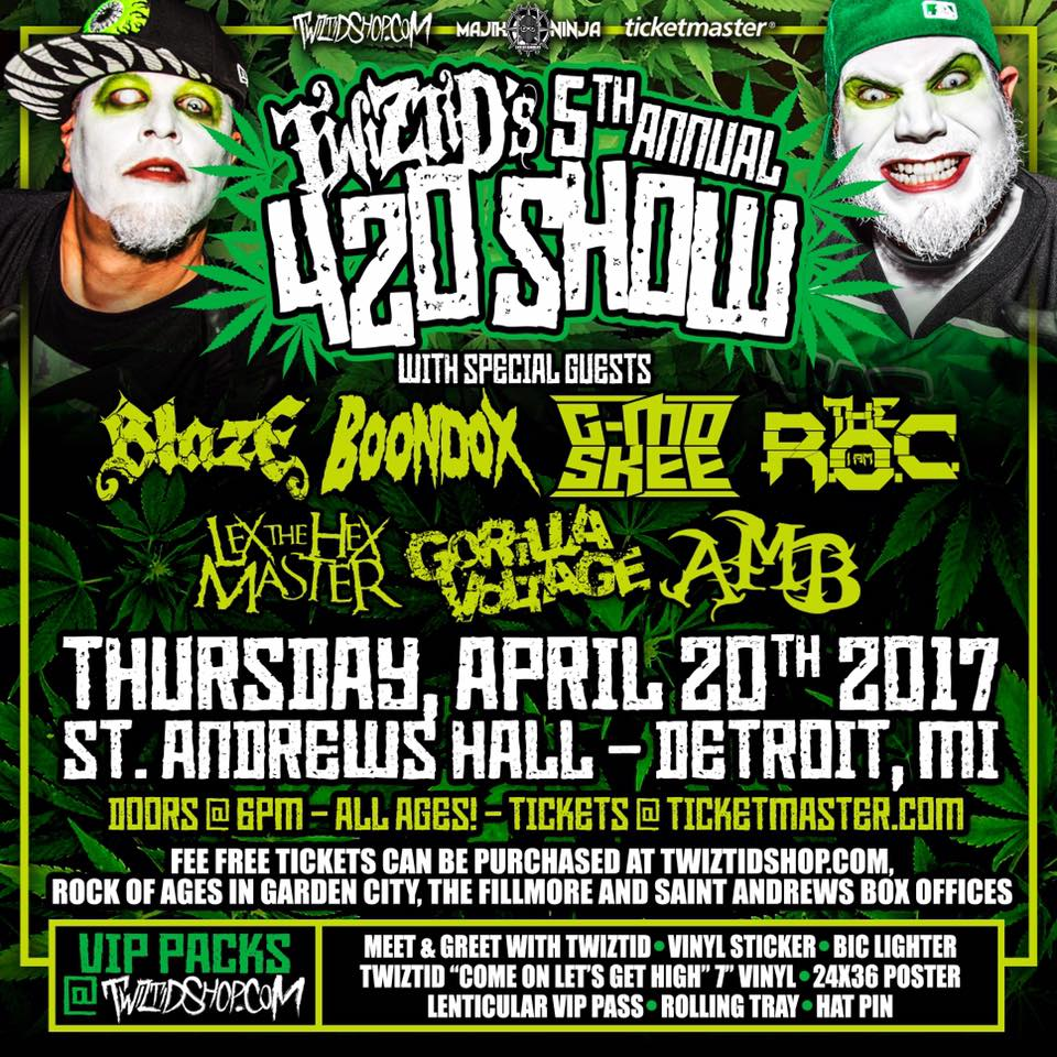 Twiztid's 5th Annual 420 Concert - Detroit, MI